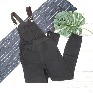 Abercrombie  Skinny Denim Overalls Black NWT 25